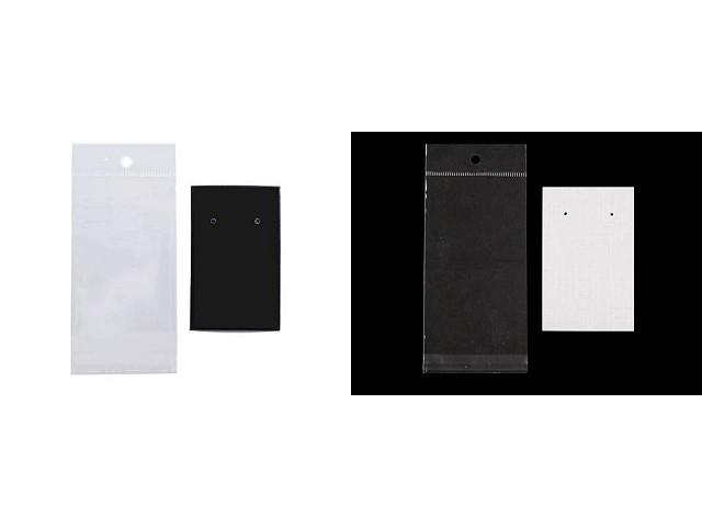 Karta na kolczyki z torebeczką i z eurozaczepem 50x80 mm