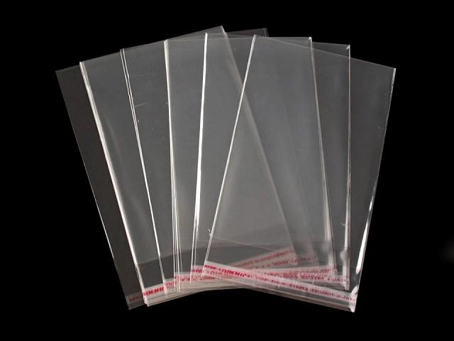 Celofánové sáčky s lepicí lištou 10x14 cm