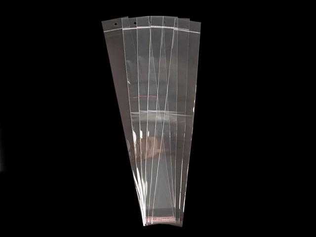 Pungi cu clapetă adezivă și agățătoare, 7x45 cm