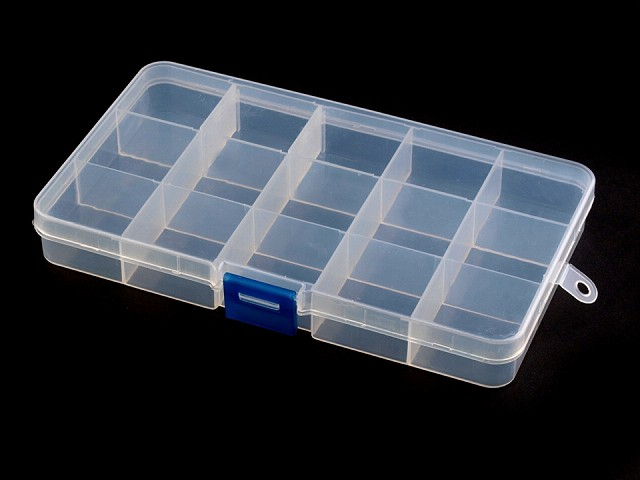 Plastový box / zásobník 10x17x2,2 cm