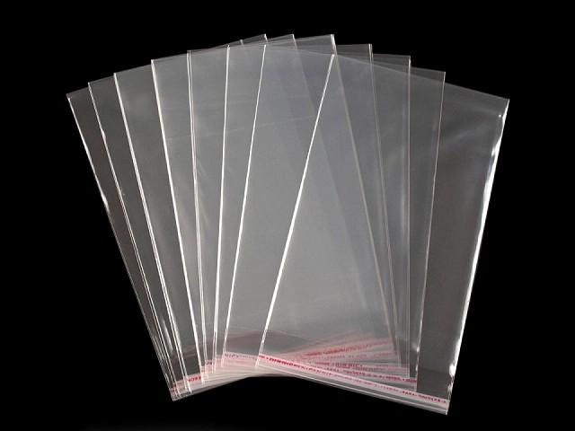 Celofánové sáčky s lepiacou lištou 13x20 cm