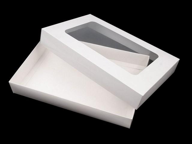 Geschenkbox aus Papier mit Fenster
