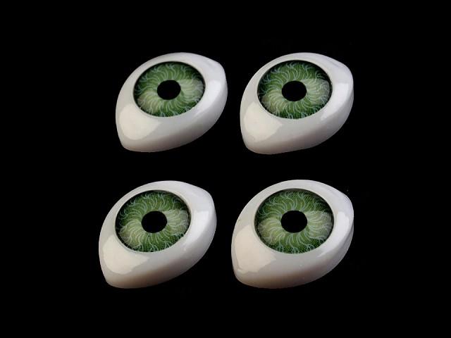 Oči nalepovací 12x17mm výška 6mm
