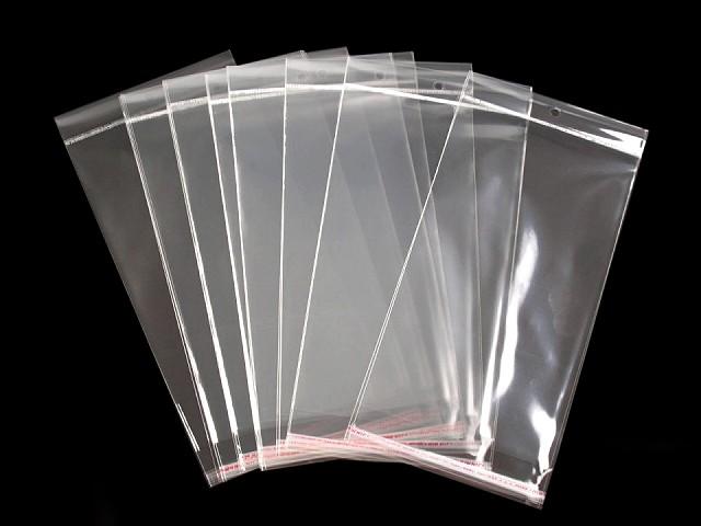 Pungi cu clapetă adezivă și agățătoare, 15x25,5 cm