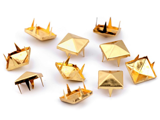 Ţinte metalice, model piramidă, 12x12 mm