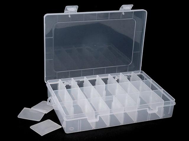 Cutie din plastic compartimentată, 14x20x4 cm