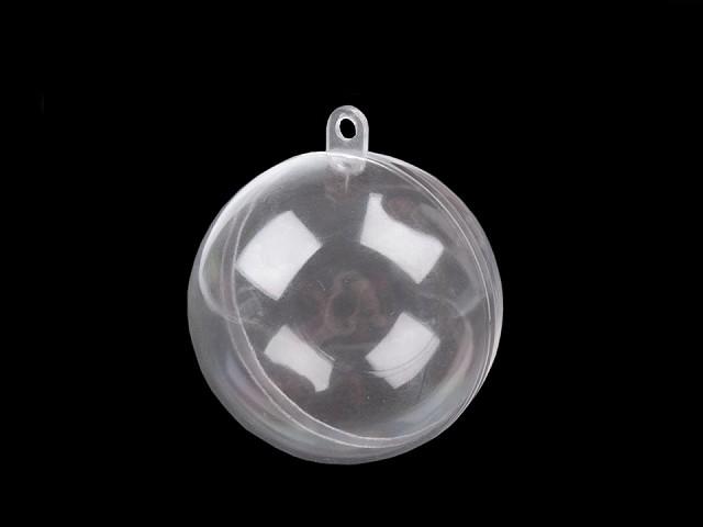 Plastová guľa Ø6 cm dvojdielna