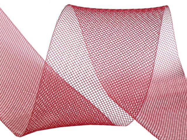 Modistická krinolína na vyztužení šatů a výrobu fascinátorů šíře 4,5 cm