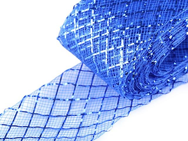 Modistická krinolína na vystuženie šiat a výrobu fascinátorov  šírka 4 cm s lurexom