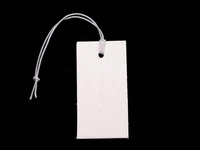 Cenówka papierowa / metka 18x36 mm z gumką