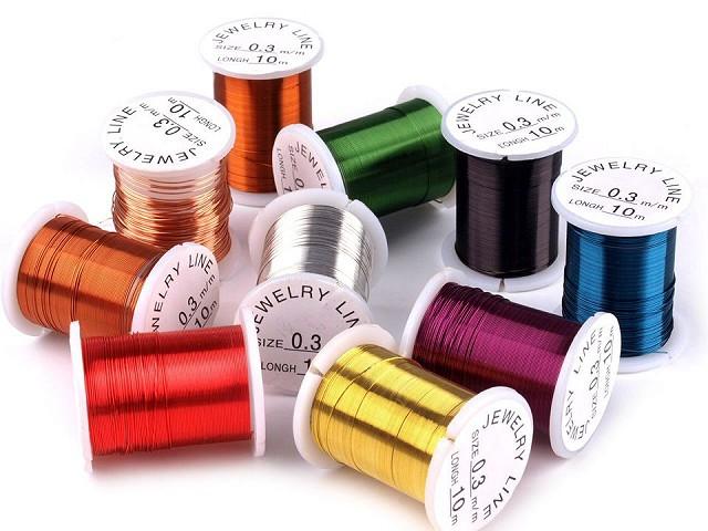 Sârmă decorativă colorată, Ø 0,3 mm, lungime 10 m