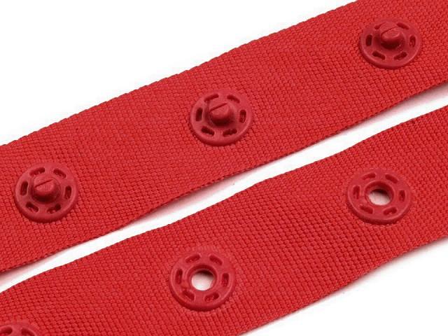 Bandă cu capse pentru confecții textile / body, lățime 18 mm