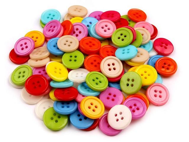"""Nasturi plastic, mix de culori, mărimea 24"""""""