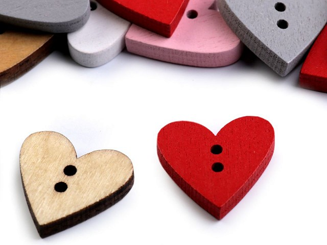 Holzknöpfe dekorativ Herzen