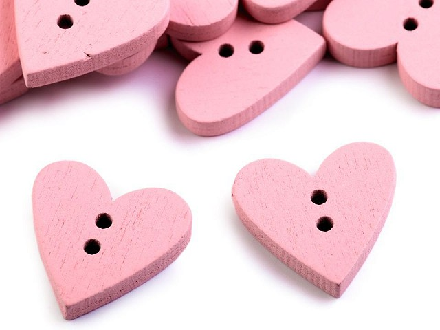 Nasturi decorativi din lemn, model inimă