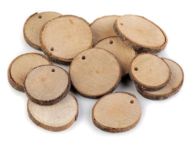 Přírodní dřevěné kolečko k domalování