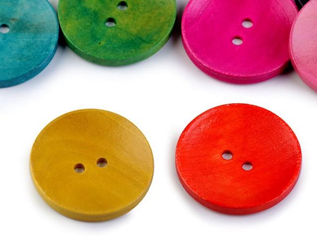 Drevený dekoračný gombík