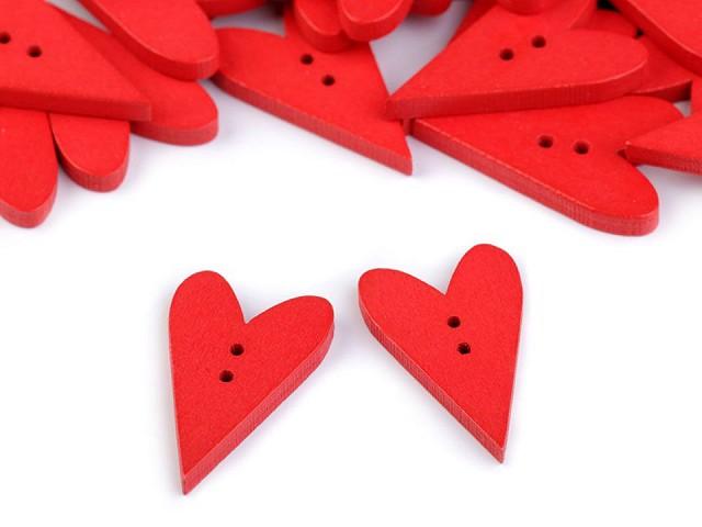 Guzik drewniany dekoracyjny serce