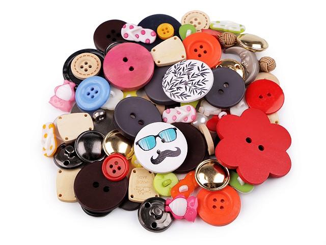Gombíky výpredaj / mix vzorov a farieb