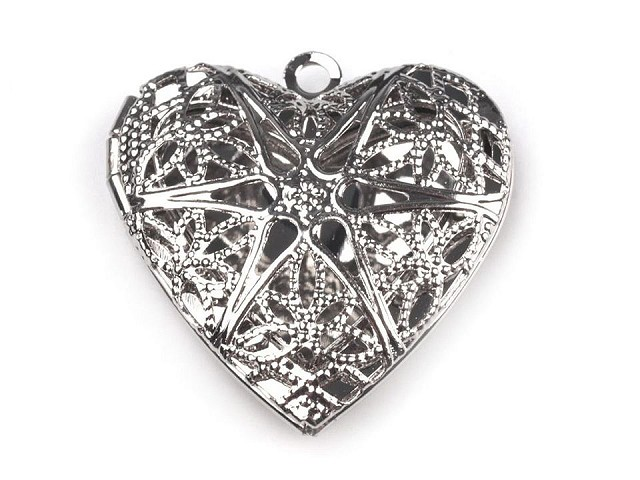 Medalion serce 26x26 mm otwierany