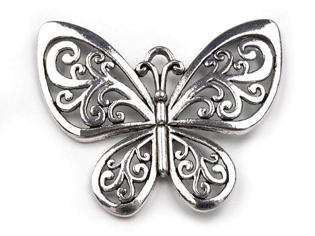 Přívěsek motýl 50x56 mm