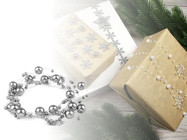 Ghirlandă decorativă perle, Ø7 mm, lungime 130 cm
