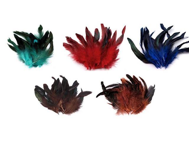 Slepačie perie dĺžka  6-20 cm