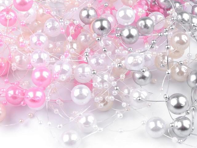 Ghirlandă decorativă perle, Ø12 mm, lungime 130 cm