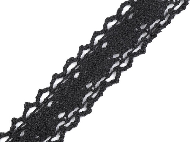 Krajka / vsadka paličkovaná šíře 25 mm
