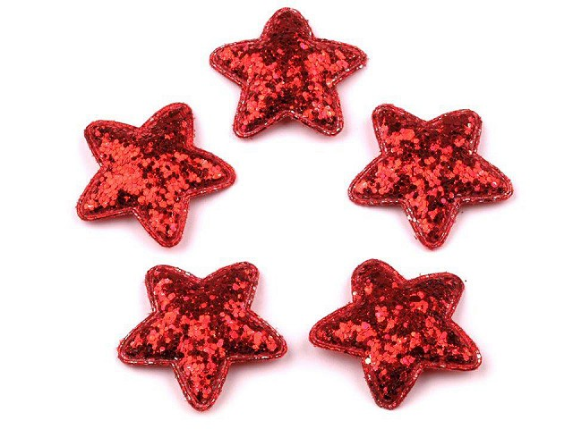 Hviezda Ø35 mm s flitrami