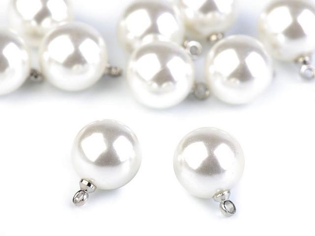 Perla s očkom / gombík Ø11 mm