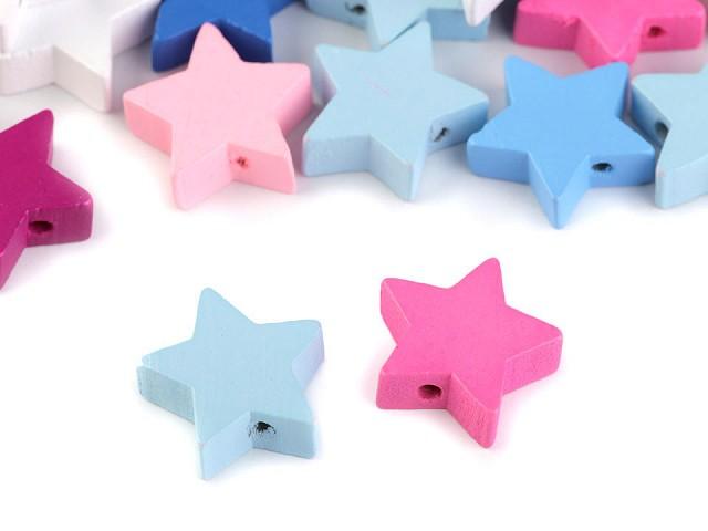 Drevené koráliky hviezda, korunka