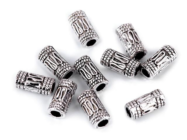 Koraliki metalowe 5x10mm wałeczek