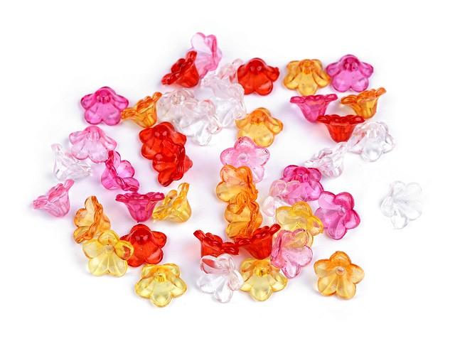 Plastikowe koraliki dzwoneczki / sukienki transparentne Ø12 mm