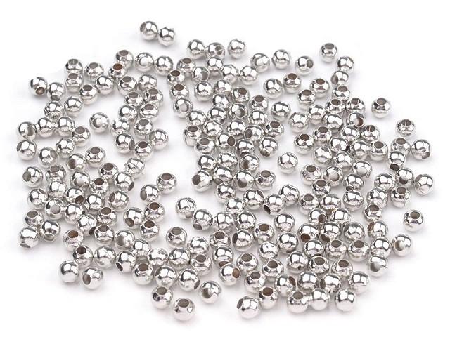 Koraliki metalowe Ø3mm
