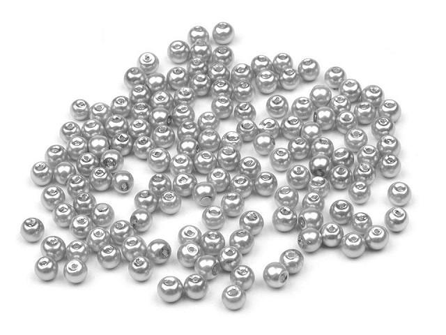 Sklenené voskové perly  Ø4mm