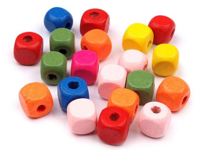 Fagyöngy szines kocka 10x10 mm  2. osztály