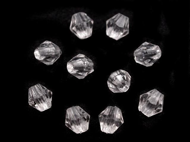 Plastové koráliky brúsené slniečko 4x4 mm