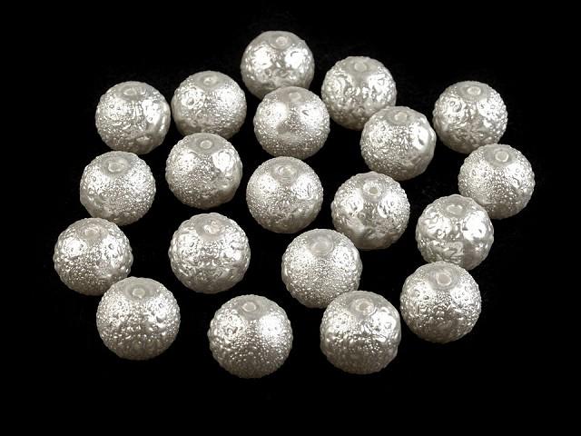 Sklenené voskové perly vrúbkované Ø10 mm