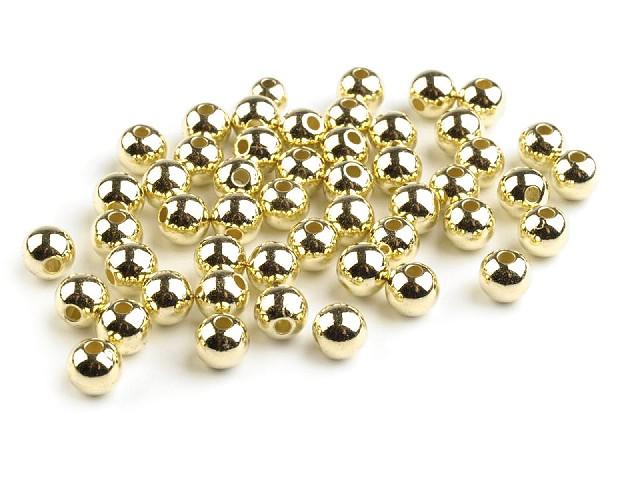 Plastové voskové koráliky / perly Glance Metalic Ø6 mm