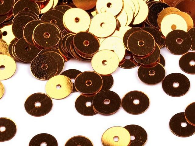 Pailletten glatt Ø6 mm metallisch