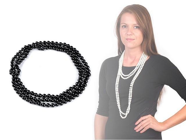Perlový náhrdelník ve stylu 30. let