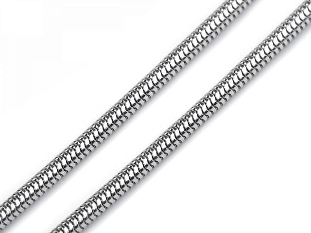Schlangen-Halskette aus Edelstahl 0,2x49 cm