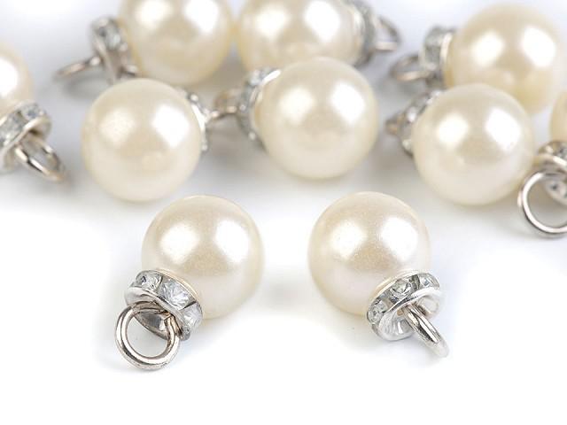 Prívesok perla s rondelkou Ø12 mm
