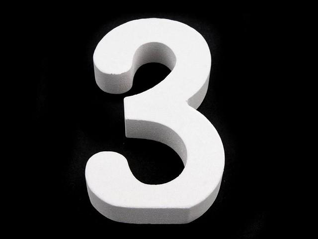 3D dekoracja cyfry, znak zapytania, wykrzyknik wysokość 8 cm