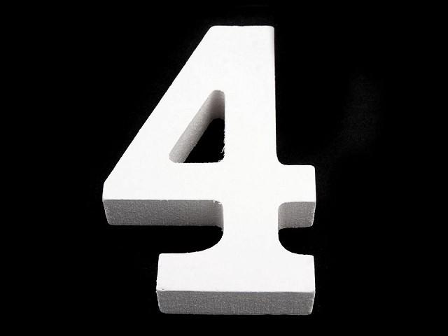 3D dekorace číslice, otazník, vykřičník výška 8 cm