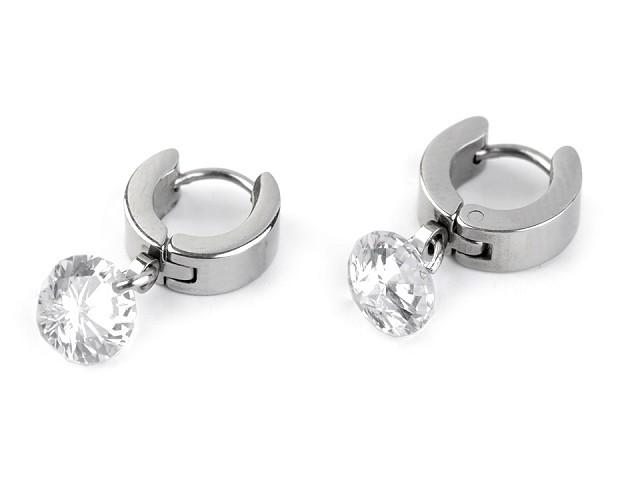 Cercei din oțel inoxidabil cu cristale