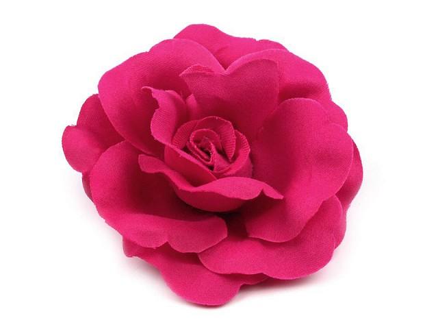 Broșă / clamă de păr trandafir, Ø6 cm
