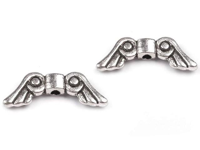 Distanțier bijuterii, model aripi, 5x15 mm