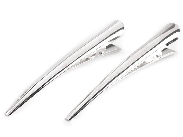 Clipsuri pentru păr metalice, lungime 75 mm